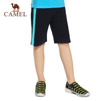 camel骆驼春夏男童五分裤 儿童青少年中腰休闲裤 透气吸汗沙滩裤