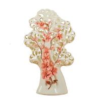 陶瓷装饰品欧式风格描金乔迁结婚礼物财树摆件