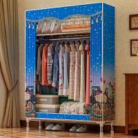 布衣柜25MM钢管加粗加固简易衣柜组装单人大号牛津布艺衣橱经济型
