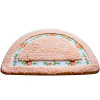 可爱半圆形地毯卧室地垫房间门垫浴室卫生间脚垫洗手间吸水防滑垫
