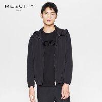 【1件2.5折到手价:128.8】MECITY男装春季纯色男士春季轻薄短款夹克外套韩版