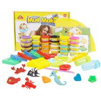 培培乐橡皮泥无毒超轻粘土不干3D彩泥儿童玩具3周岁模具工具套装