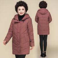 №【2019新款】送妈妈的冬装洋气外套中长款2018新款40岁50中老年女装羽绒棉衣女