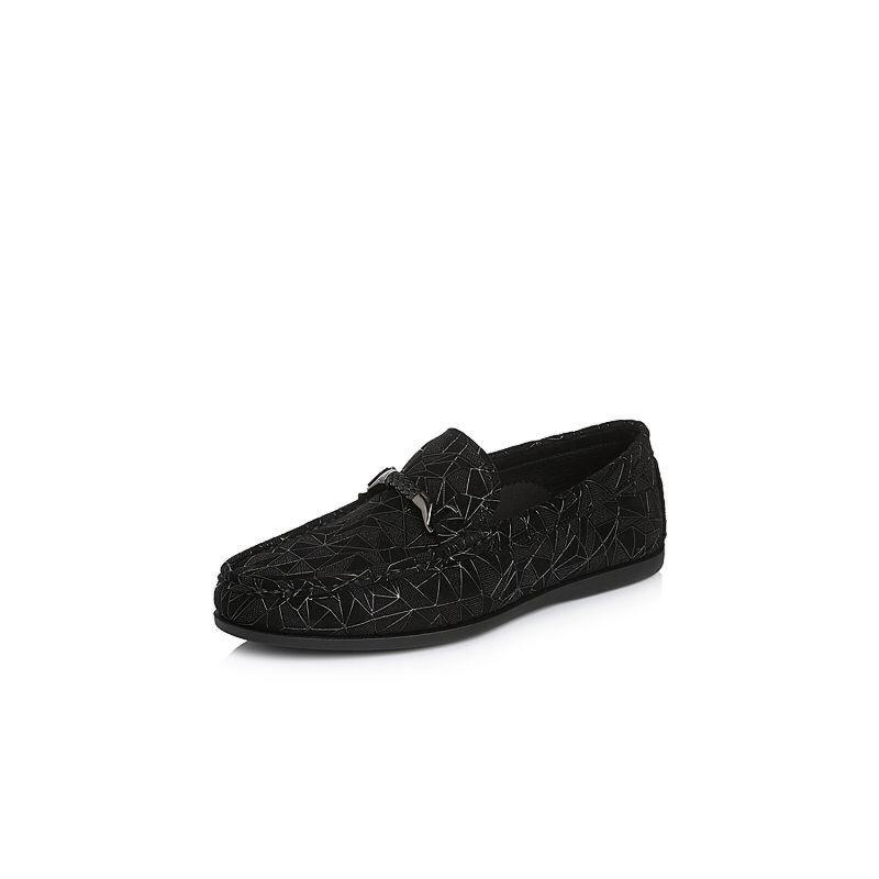 Belle/百丽2018春季新品专柜同款滴胶羊绒皮革男休闲鞋5QV01AM8
