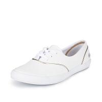 Lacoste法国鳄鱼女鞋时尚百搭软皮休闲小白鞋7-32SPW0118专柜正品