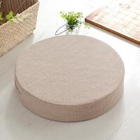 棉麻蒲团坐垫布艺圆形榻榻米垫子日式阳台飘窗地板加厚可拆洗地垫