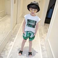 男童短袖套装夏两件套新款韩版宝宝3儿童装4男孩5衣服678岁潮
