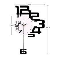 钟表挂钟客厅个性创意时尚挂表现代简约家用时钟客厅卧室石英钟 20英寸以上