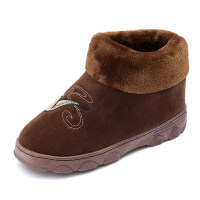男士棉拖鞋冬季全包跟室内厚底带后跟保暖毛毛加绒冬天居家用棉鞋