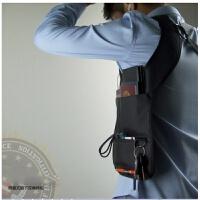 健身运动隐藏式腋下防盗双肩挎包隐形贴身男士户外特工腰包