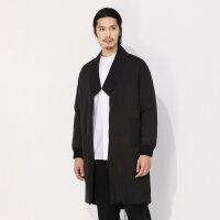【1件3折价:392.7】CHIN中式轻薄棉服外套男2020春季新款男棉服拼接男士外套黑色酷