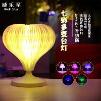 20180720151929988多变迷你LED台灯 USB充电折叠七彩灯 创意礼品卧室小夜灯