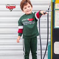 【促】赛车总动员童装男童秋装2018秋冬新品麦昆加绒棒球服套装两件套