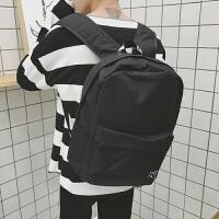 男生双肩包潮流韩版高中书包男学生校园青少年电脑背包帆布休闲