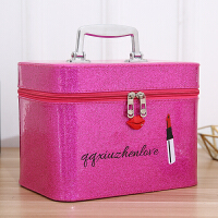 便携可爱化妆包大容量手提简约少女心防水化妆箱旅行化妆品收纳盒
