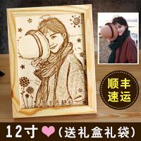 20180330201537760生日礼物女生创意木刻画友情闺蜜特别的走心的送女友照片定制礼物 (顺丰加急)