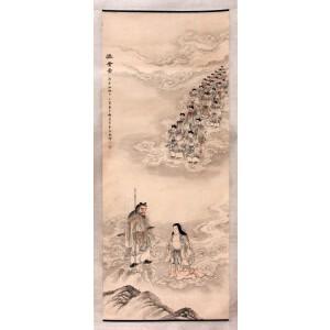 中国京剧表演艺术家   梅兰芳《渡会图》