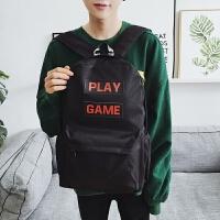 男士背包双肩英伦青少年双肩包男旅游日韩版潮高中学生大容量书包