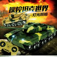 遥控坦克车男孩无线模型越野车玩具充电动汽车大炮六一儿童节礼物