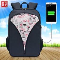 14寸15.6寸电脑包双肩女韩国百搭时尚大学生韩版潮电脑充电背包女