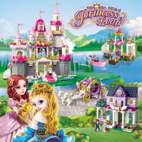 启蒙积木玩具5女童拼插公主城堡积木拼装玩具益智6-7-8-10岁女孩