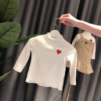 女宝宝秋装上衣1-2-3岁韩版潮女童洋气t恤婴儿加绒打底衫秋冬纯棉