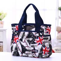 中年女包包休闲包防水手提包便当包饭盒袋大容量妈妈包布包女帆布
