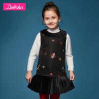 【3折价:175.5】笛莎童装女童背心裙冬季新款中大童儿童背心裙