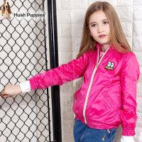 【秒杀价:89元】暇步士童装儿童夹克衫春秋装新款女童糖果色风衣薄款防风外套