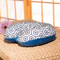 舒适几何U型枕泰国乳胶枕旅行枕头脖子颈椎护颈午睡u形记忆枕
