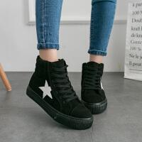 雪地靴女2018冬季新款高帮加绒保暖靴子时尚休闲学院风棉鞋
