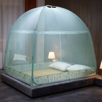 蒙古包1.5m床1.8m家用2米蚊帐防摔支架1.2m全封闭拉链式帐篷