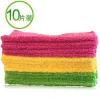 擦地抹布吸水不掉毛加厚木地板瓷�u家用清��毛巾不留痕拖布替�Q布 QMK-030(�色�S�C,10�l 28x28cm)