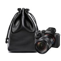 索尼sony A7R2单反相机包皮套A7R3 A9收纳包袋微单牛皮内胆包便携 黑色A7系列+35mm F/2.8