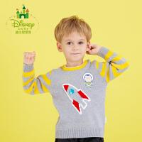 【2件3折到手价:61.5】迪士尼Disney童装男童毛衣纯棉新款春秋装宝宝针织衫173S934