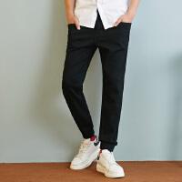 【满1000减750】美特斯邦威牛仔裤男士冬装新款收脚口舒适小脚慢跑裤