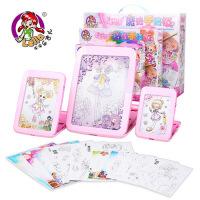 乐吉儿小花仙魔法手绘儿童画板 写字画画板女孩画册式玩具A035