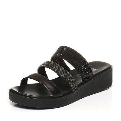 Teenmix/天美意夏专柜同款钻饰多条带平跟女凉拖鞋6Z915BT7