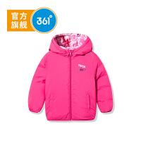 361度童装女小童羽绒服冬季新品加厚款加绒女童装羽绒服宝宝外套K61844913