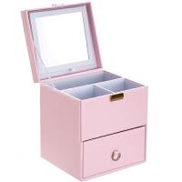 化妆箱手提多层木质抽屉式日本化妆品收纳盒包家用大号带镜子