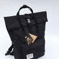 双肩背包日本Rooto*休闲帆布双肩包男女通用防水包旅行背包