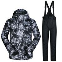 滑雪服男套装冬季滑雪服加厚保暖男大码防水防风双板单板套装