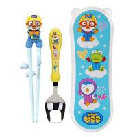 啵乐乐韩国进口新款学习筷加勺加盒套装企鹅款