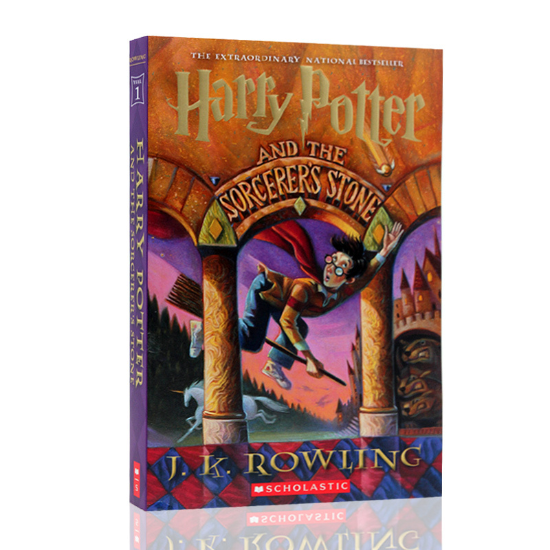 英文原版 Harry Potter and the Sorcerer's Stone 哈利波特与魔法石1 J.K. Rowling罗琳小说 美国版青少年经典读物 进口书 正版