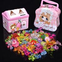 儿童diy手工水晶宝石串珠项链穿珠子亚克力仿七彩色玩具水晶公主