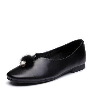 Belle/百丽2018春新品专柜同款牛皮革女休闲鞋S3G1DAQ8