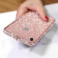 苹果7水钻手机壳7plus奢华钻石金属边框iphone8镶钻闪粉壳6钻壳女