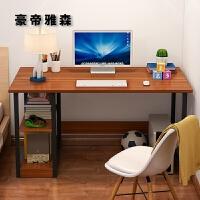 台式电脑桌简约现代宿舍家用卧室简易经济型带书架书桌一体儿童女
