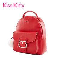 20170907132602635Kiss Kitty女包2017新款韩版背包猫咪扣双肩包学院风百搭休闲书包