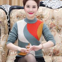 中老年女秋装貂绒上衣新款50-60岁打底衫妈妈毛衣加厚羊绒衫